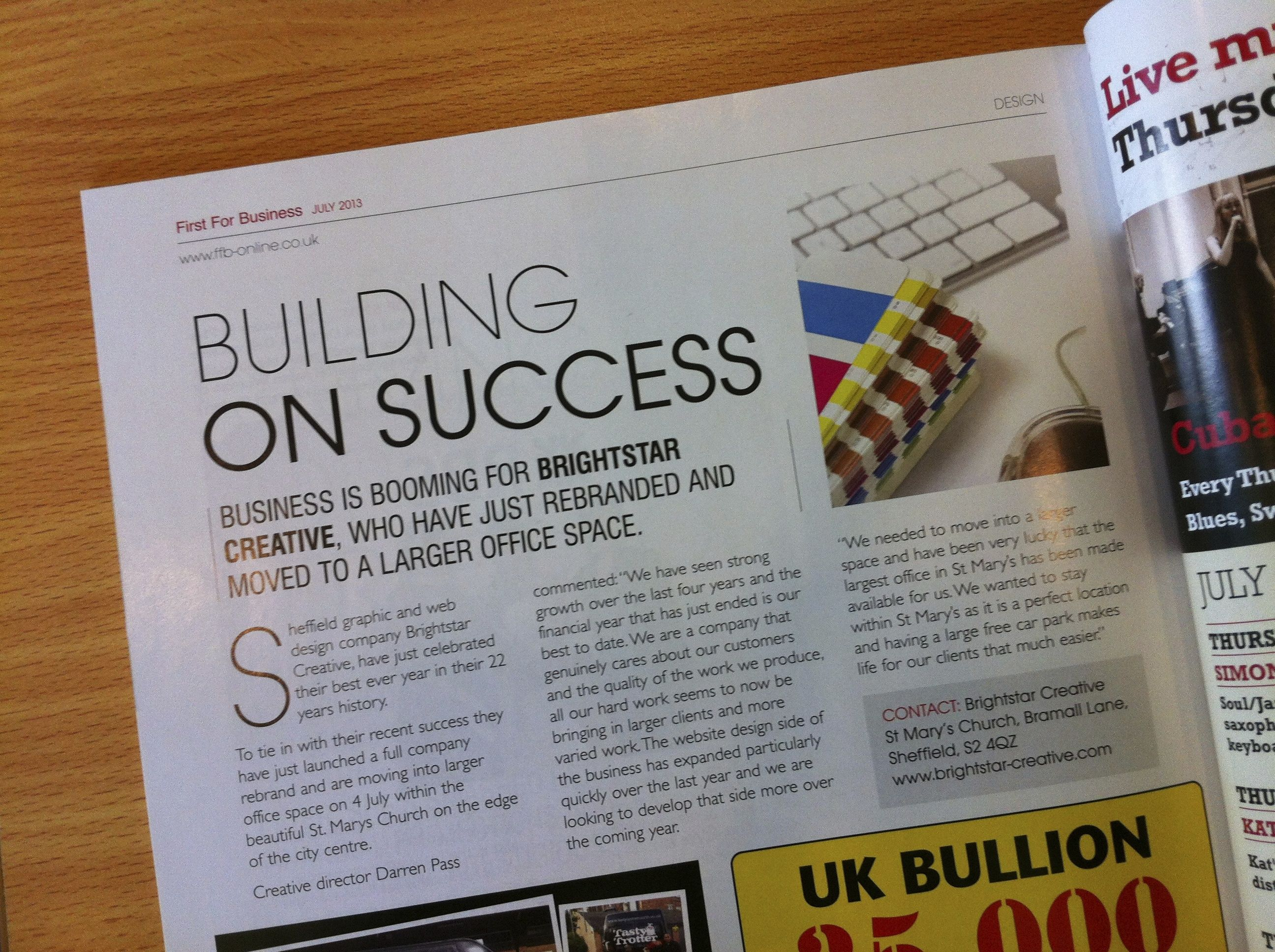 Sheffield Graphic and Web Design Company Building on Success